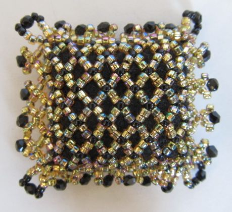 Precious Jewel Netted Gold Pincushion 2