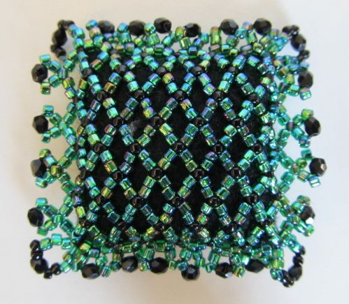 Precious Jewel Netted Green Pincushion 1